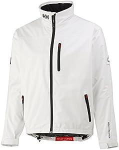 Helly Hansen Crew Midlayer Chaqueta deportiva impermeable, Hombre, Blanco (Bright White), L