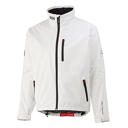 Helly Hansen Crew Midlayer Chaqueta deportiva impermeable, Hombre, Blanco (Bright White), XL