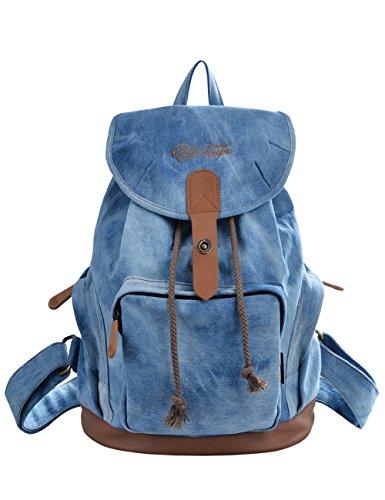 Douguyan Damen Fashion Canvas Tasche Unitasche E00117 Denim Blau
