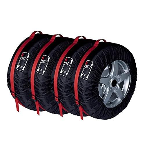 MEIMEI Store 4pcs Cubierta de neumáticos de repuesto Caja de poliéster invierno y verano bolsas de almacenamiento de neumáticos Auto Accesorios de neumáticos Protector de rueda de vehículo Nuevo