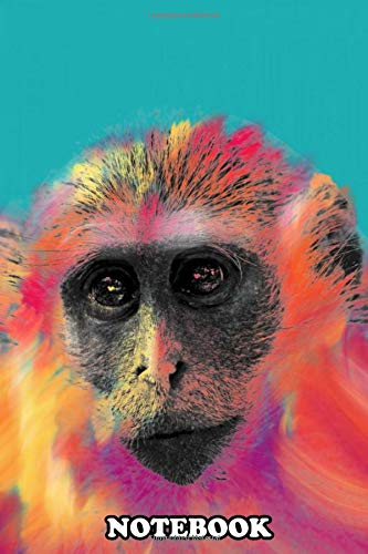 """Notebook: Colorful Monkey , Journal for Writing, College Ruled Size 6"""" x 9"""", 110 Pages"""