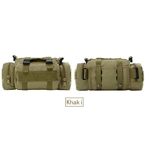 SHRAY 20L The Following 3P Magic Bag Casual Camouflage Men's Bag Sports Multifunctional Bag Wild Riding Tactical Bag Multifunction Oxford Cloth High Density Waterproof Khaki
