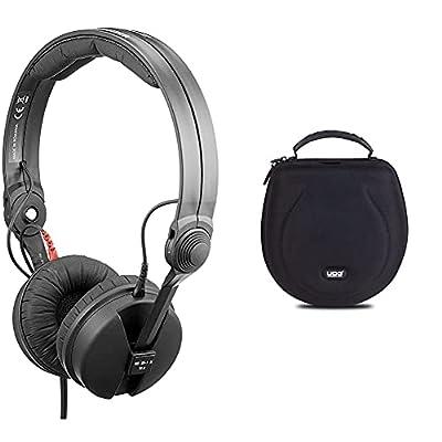 Sennheiser HD 25 Basic Edition Closed Headphone for ENG/DJ with Split Headband & UDG Creator Headphone Case Large Black U8200BL by