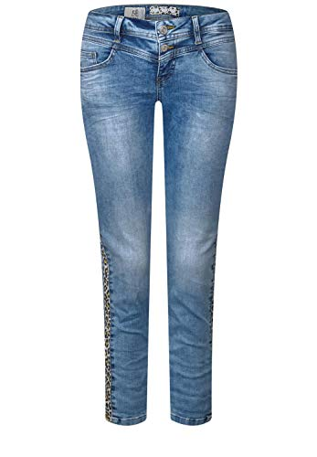 Street One Damen 372130 Crissi Slim Jeans, Authentic Light Blue Washed, 27W/26L