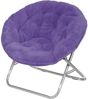 Mainstay Faux-Fur Saucer Chair (Purple)