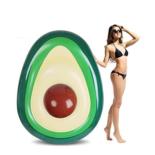 MiiDD Aufblasbare Avocado Float Toy für Erwachsene und Kinder geeignet. Wasser Pool Floß Aufblasbare Spielzeug Float Ruhesessel Schwimmen Ring Luftmatratze für Sommer Strand Poolpartys (Avocado)