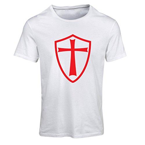 Frauen T-Shirt Ritter Templer - Die Templer Schild Christian Ritter Ordnung (XX-Large Weiß Rote)