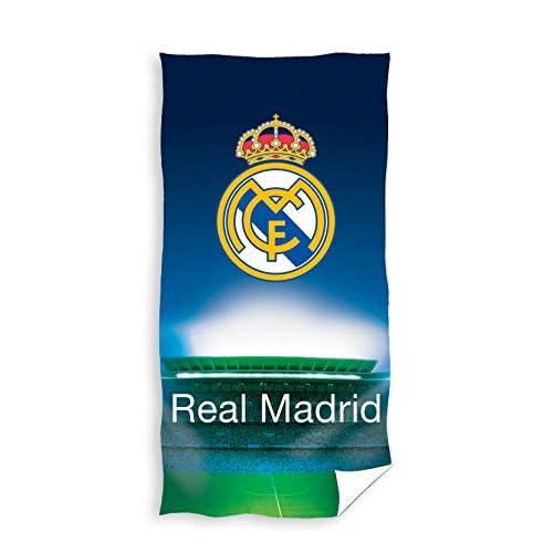 Textil Tarrago - Telo da spiaggia Real Madrid, 70 x 140 cm, in microfibra, licenza ufficiale