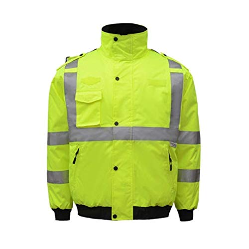 Hcxb-a veiligheidsvest, reflecterend, hoge zichtbaarheid: reflecterend op 3 niveaus Hi-Vis Viz 7 in 1, werkkleding voor de veiligheid in het wegverkeer, reflecterende jas voor buiten.