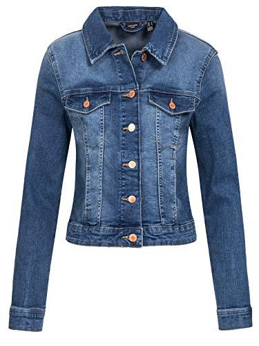 Vero Moda Vmtine LS Slim Denim Jacket Mix Ga Noos Chaqueta de jean para Mujer