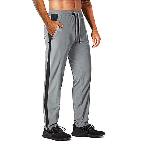 U/A Mens Joggers Pantalones De Verano Casual De Secado Rápido Pantalones De Pista Patchwork Ajuste Regular Cordón Ejercicio Pantalones De Chándal Hombre