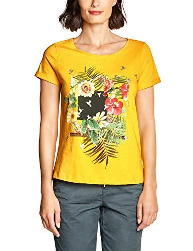 Street One 313603 Camiseta, Multicolor (Bright Clementine 31804), 40 (Talla del Fabricante: 38) para Mujer