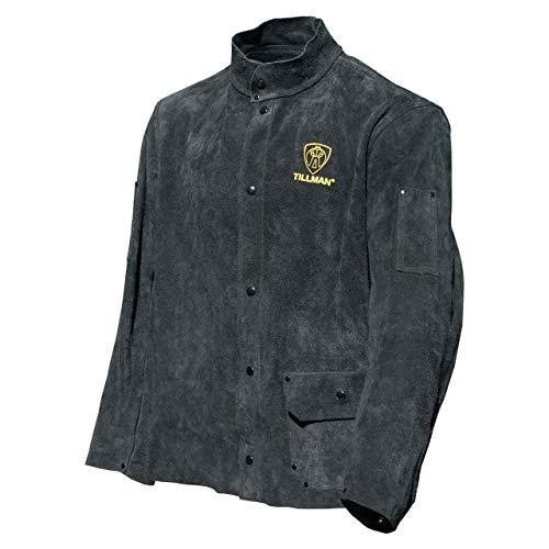 "Tillman 3281 30"" Black Premium Side Split Cowhide Leather Welding Jacket, X-Large"