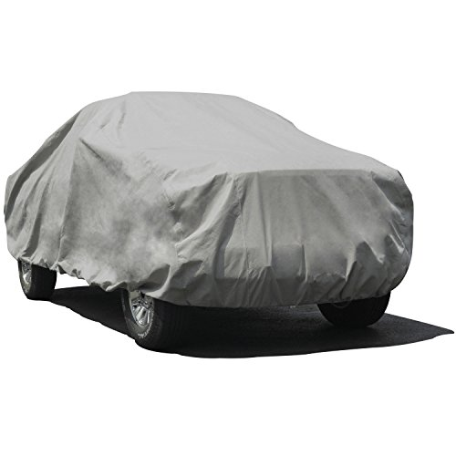 "Budge Duro 3 Layer Truck Cover, Water Resistant, Scratchproof, Dustproof Cover, Fits Trucks up to 20'9"", Gray"