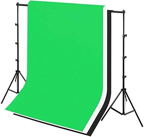 Froadp 2,6×3m Hintergrund Set Aluminiumlegierung Hintergrundstativ mit 3 Farbe Einteiliges Nahtloses Design Vliesstoff Fotostudio Hintergrundsystem für Produktfotografie Portrait und Videoaufnahme