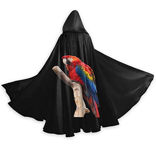 Amanda Walter Capa con Capucha de Navidad Negra de Loro Rojo Brillante de Cuerpo Entero Capa de Fiesta de Disfraces de Halloween para Hombres Mujeres