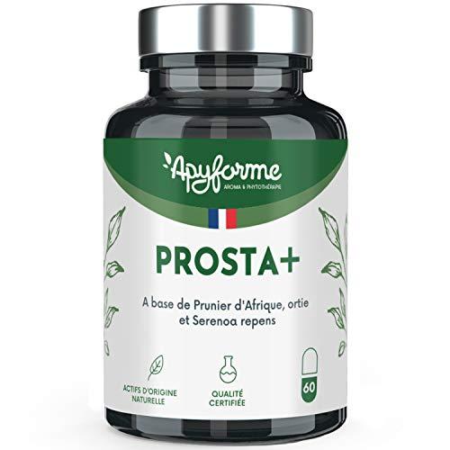 Comfort della Prostata e del Tratto Urinario - 5 Principi Attivi tra cui Palm Naim, Pygeum Africanum, Zinco - Integratore Alimentare 100% Prosta+ Francese -