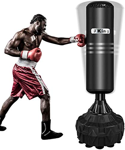 U`King Freistehender Boxsack, Hochleistungs-Standboxsack Mit Starker Saugbasis Boxsack stehend für Kickboxen Martial Ausgezeichneter Dummy das Boxen MMA Training