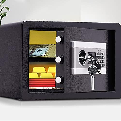 GQTYBZ Caja Fuerte Digital IgníFuga, Caja Fuerte para el Hogar Antirrobo de Archivos Electrónicos de Efectivo, Documentos IgníFugos e Impermeables Doble ProteccióN del Panel de La Cerradura Principal