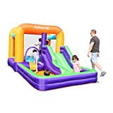 AirMyFun Inflatable Bounce House,Inflatable Kids Slide,Jumping Bouncing House with Air Blower, Suitable for Playing Outdoor Garden