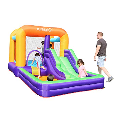 AirMyFun Inflatable Bounce House with Air Blower Toddler Bounce House for Kids Jumper Bouncy Kids Jump Bouncy Castle