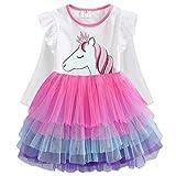 VIKITA Toddler Girl Purple Tutu Winter Long Sleeve Tutu Party Dresses for Girls(LH4590, 3T)