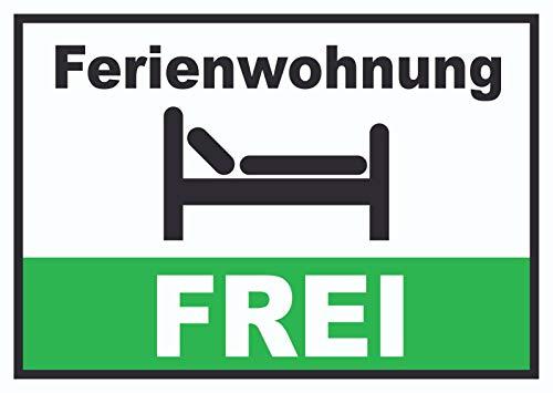 HB-Druck Ferienwohnung FREI Schild Pension Motel Hotel Zimmer Frei A3 (297x420mm)