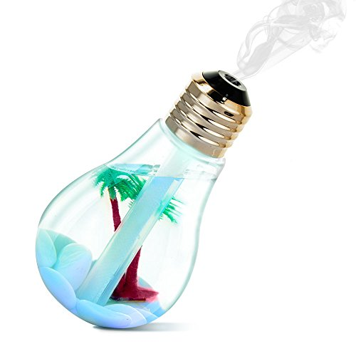 Number-one Cool Mist Ultrasonic Humidifier, Bulb Micro Landscape...