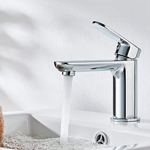 Lonheo Badarmatur Einhandmischer Waschbecken Spüle Wasserhahn, Mischbatterie Waschtischarmatur fürs Bad