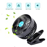 Yerloa 6' 12V Car Fan Auto Cooling Low Noise 360 Degree Rotating Step-less Speed Adjustable for Vehicle Truck RV SUV Boat-2020 Newest