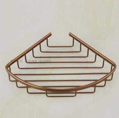 LiuliuBull W Estante de la Esquina de baño Antiguo Bronce Bronce de baño Estante de Ducha Sábalo de champú para estantes Estante de Almacenamiento Estante de Almacenamiento Baño Baño Titular