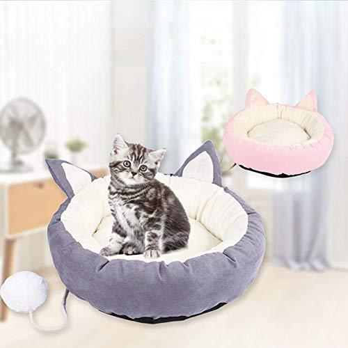 Lai-LYQ Knuffel Huisdier Hond Nest Zachte Winter Puppy Kitten Warm Ronde Huis Bed benodigdheden - Roze L, PinkM, Pinkm