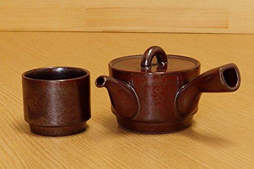 [Ensemble de tasse et théière] Imari poterie Rouge japonaise Kyusu Théière et tasse Ensemble