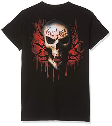 Spiral - Game Over - Modern Cut Turnup Sleeve Black (T-Shirt Unisex TG. S)