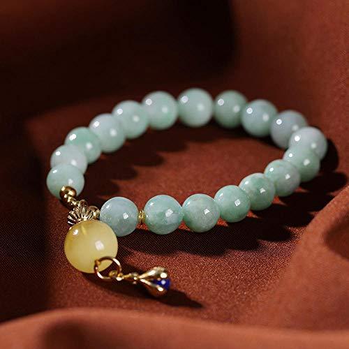 LLXXYY Armband Voor Vrouwen Vintage 925 Sterling Zilver, Emerald Kralen Ketting Met Bee Wax Kraal Hanger Armbanden Charm Bangle Voor Vrouwen Mannen Baby Meisjes Manchet Personaliseren Sieraden
