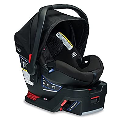 BRITAX B-Safe Ultra Infant Car Seat - Rear Facing   4 to 35 Pounds - Reclinable Base, 2 Layer Impact Protection, Midnight (E1C009E) by Britax USA