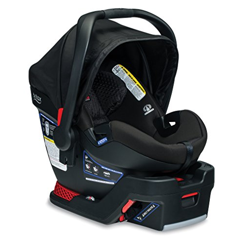 BRITAX B-Safe Ultra Infant Car Seat - Rear Facing | 4 to 35 Pounds - Reclinable Base, 2 Layer Impact Protection, Midnight (E1C009E)