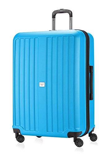 HAUPTSTADTKOFFER - X-Berg - Koffer Trolley Hartschalenkoffer, TSA, 75 cm, 128 Liter, Cyanblau matt