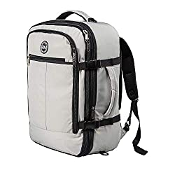 grey and black expandable backpack cabin Max best cabin luggage