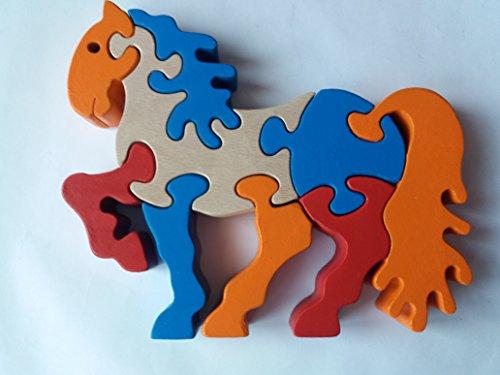 Holzpuzzle Pferd Pony handgemachte Pferd Tier Spielzeug Geschenk für Kinder massiv Buchenholz Spielzeug