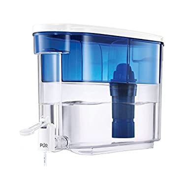 PUR 18 Cup Dispenser, Includes 1 Filter, Filter Helps Reduce Chlorine Taste and Odor, Filter Provides Up To 40 Gallons or About 2 Months of Filtered Water