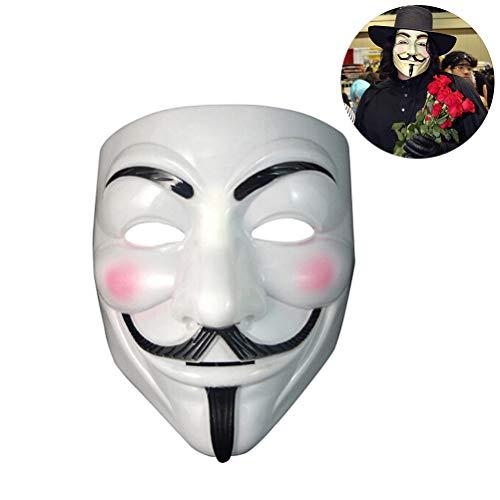 BovoYa Halloween Mask V Mask Anonymous Vendetta Máscara