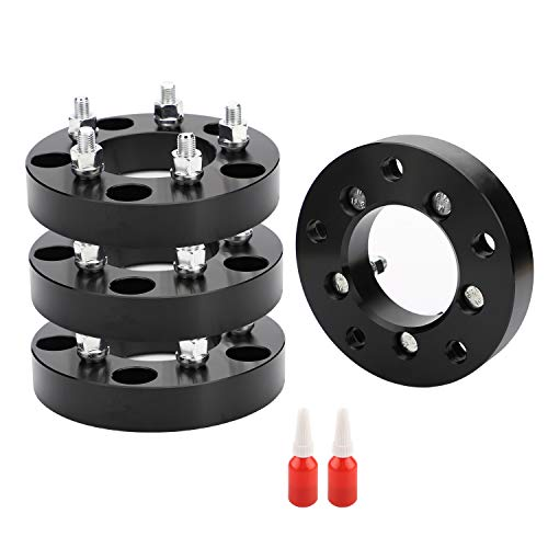 EOTH 5x5.5 to 5x4.5 Wheel Adapters, 1.25 Inch 5x139.7 to 5x114.3 Wheel Adapters 88mm hub core with 12x1.5 Studs, Bounce with 2 Thread Locking Adhensive