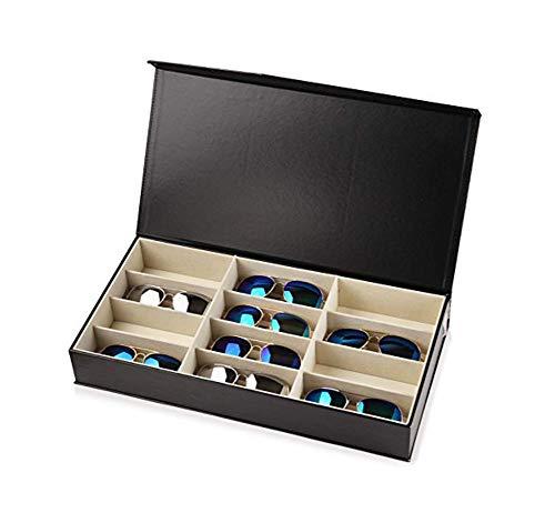 12 grid zonnebrillen organizer glazen box brillenkoker tentoonstelling organizer glazen & eyewear displayshop, multifunctionele bewaardoos voor de winkel Bond/Coin/Jewelry Collection