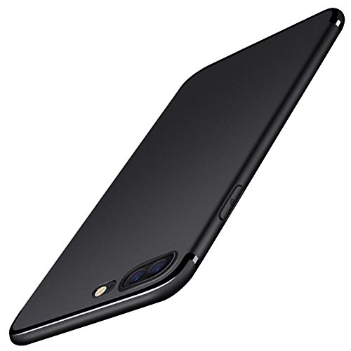 Funda iPhone7 plus/8 plus,JOMNM (Con Una Pantalla de Protectora Gratis)+Ultra Slim Anti-Rasguño Soft TPU Bumper Protectora Caso Cover Case Para iPhone7 plus/8 plus 5.5inch Negro