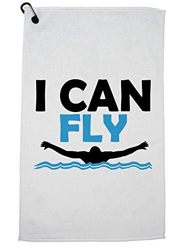 Hollywood draad ik kan vliegen zwemmen vlinder icoon zwemmer golf handdoek met karabijnhaak clip
