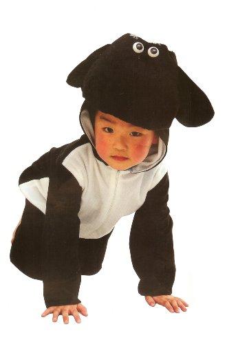 Fun Play - Disfraz de Oveja para niños - Disfraz de Animal - Mono de una Pieza para Niños y Niñas - Disfraz para niños de 3-5 años (110cm)