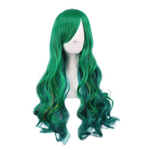 TrifyCore Harajuku Ombre - Peluca Larga para Disfraz de Halloween, Color Verde