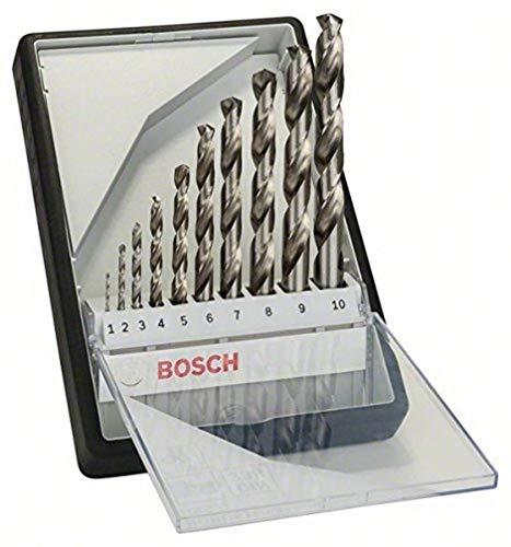 Bosch Professional 10tlg. Metallbohrer-Set HSS-G Robust Line (für Metall, geschliffen, Zubehör Bohrschrauber)