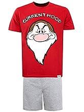 Disney Pijama para Hombre Gruñón Grumpy Rojo Size X-Large